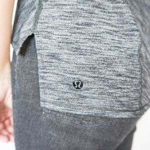 lululemon athletica Tops - LULULEMON Dark Heather Grey Tech Tee Short Sleeve